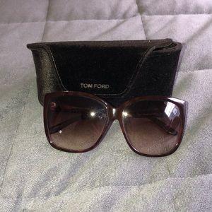 TOM FORD LYDIA oversized sunglasses. Worn 3-5x